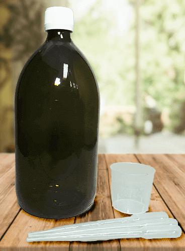 Botella de cristal de laboratorio opaca 1000ml