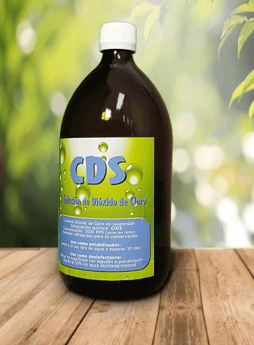 Formato ahorro - Un litro de CDS en botella de cristal
