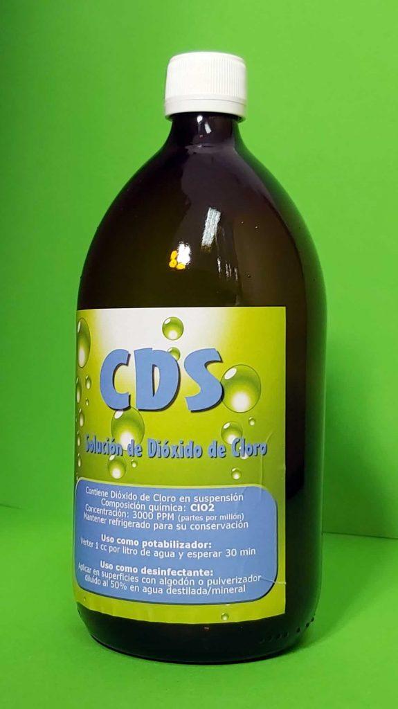 Botella de cristal CDS un litro